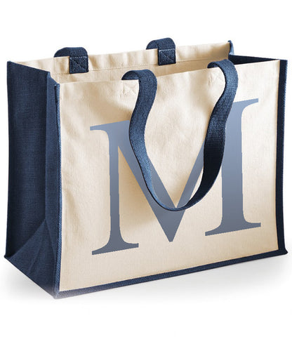Personalised Initial Cotton Shopper Bag