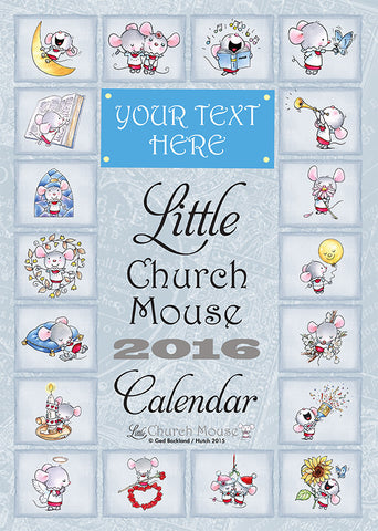 Little Church Mouse Personalised Calendar 2016