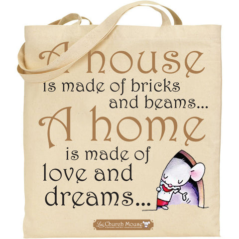 Little Church Mouse A House Tote Bag