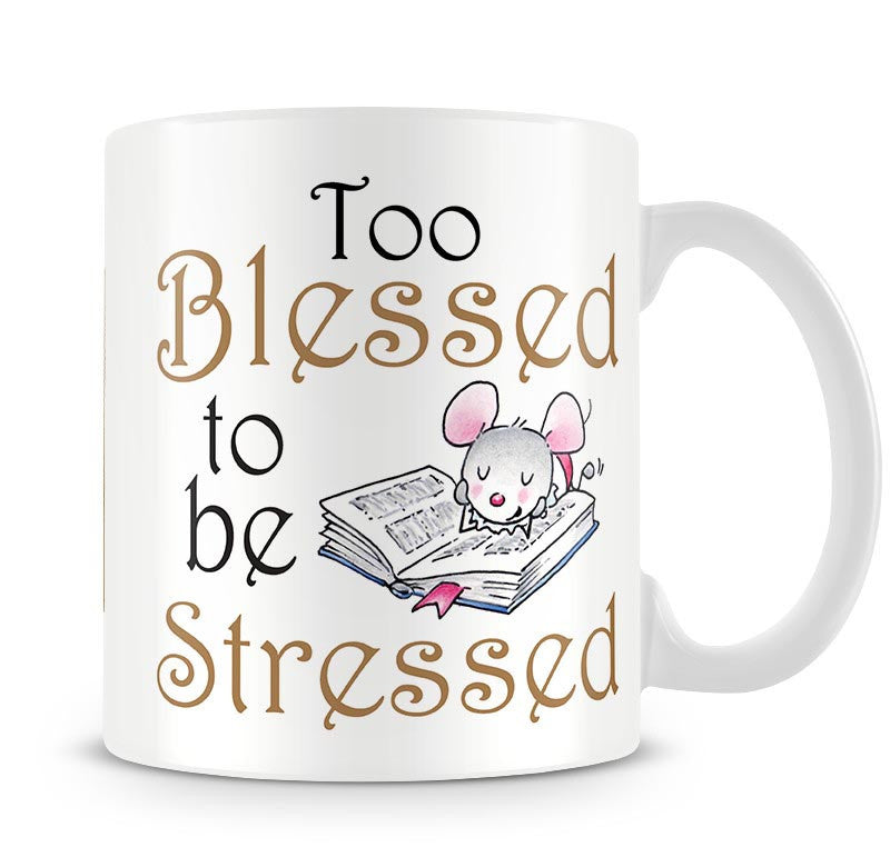 Little Church Mouse Blessed - No Stress Mug