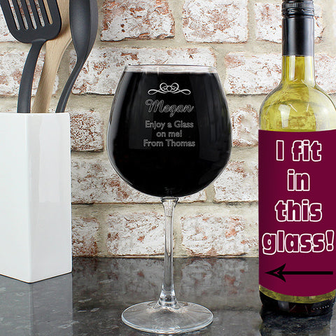 Decorative Bottle of Wine Glass