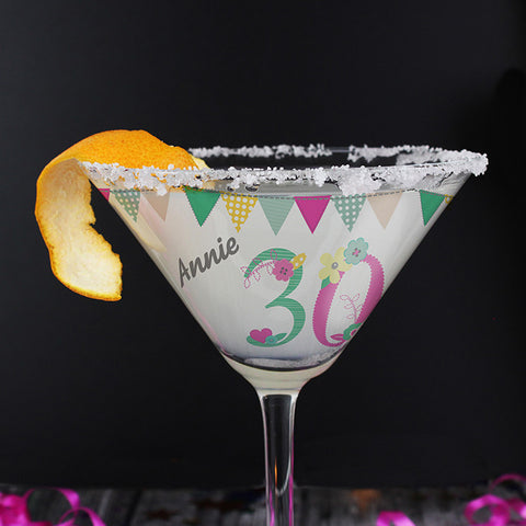 Birthday Craft Cocktail Glass