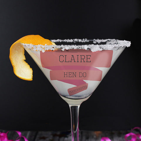 Pink Banner Cocktail Glass