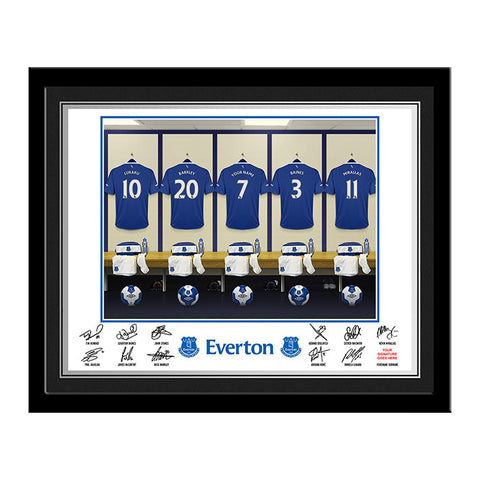 Personalised Everton Dressing Room Print