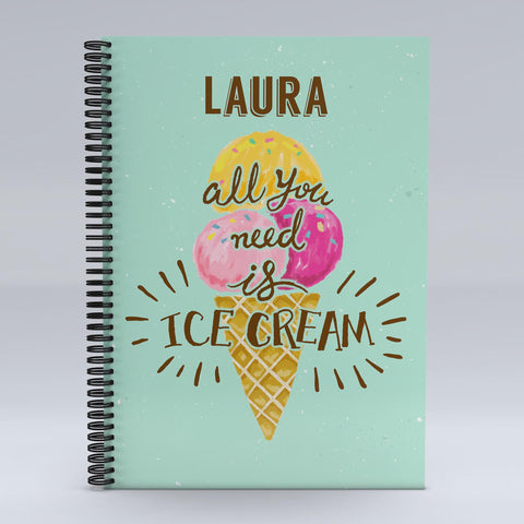 Personalised All You Need Is Notebook