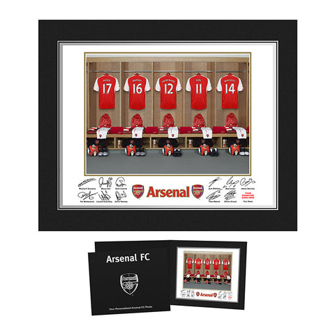 Personalised Arsenal Dressing Room Print