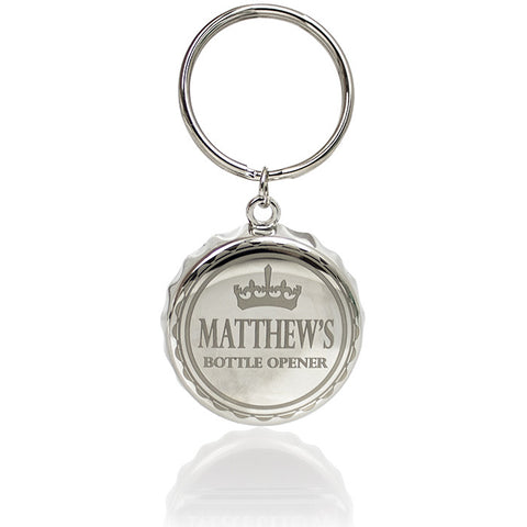 Personalised Crown Bottle Top Keyring