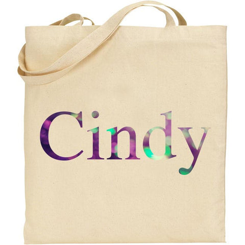 Personalised Glitter Name Tote Bag