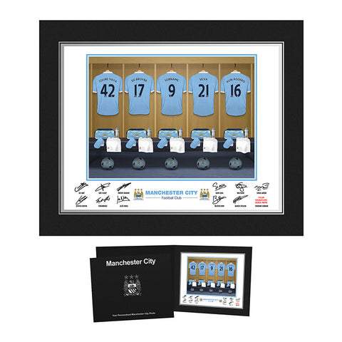 Personalised Manchester City Dressing Room Print