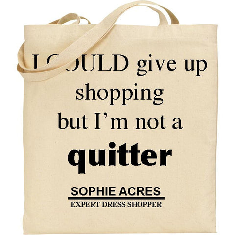 Personalised Quitter Tote Bag