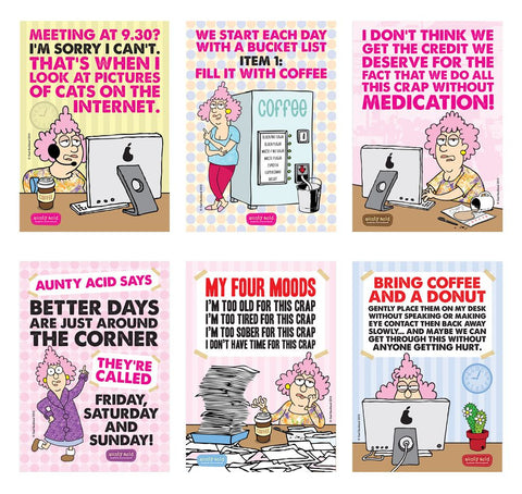 Aunty Acid Office Poster Set