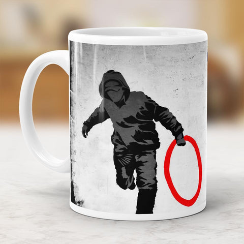 Banksy Olympic Rings Mug