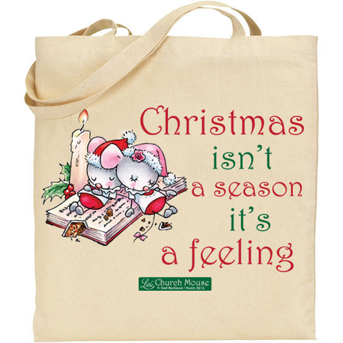 Little Church Mouse Christmas Tote Bag