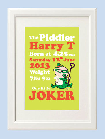 Goochicoo Personalised The Piddler Print