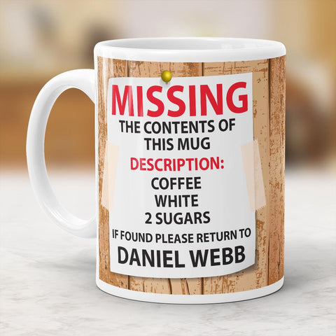Personalised Missing Mug