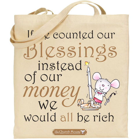 Little Church Mouse Blessings Tote Bag