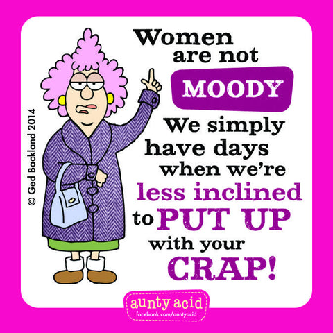 Aunty Acid Moody Square Fridge Magnet