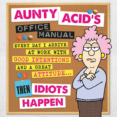 Aunty Acid office Manual Hardcover Book