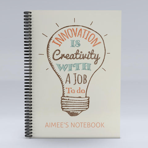 Personalised Innovation Is Creativity Notebook