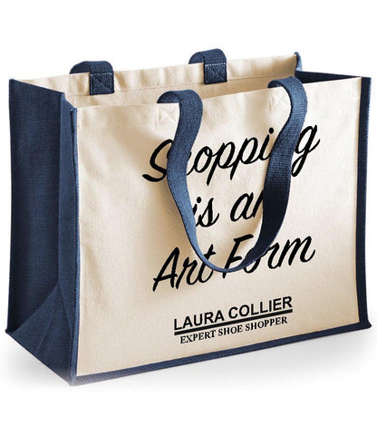 Personalised Shopping Art Form Cotton Shopper Bag
