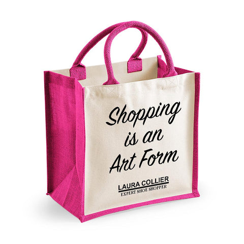 Personalised Shopping Art Form Midi Cotton Shopper Bag