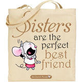 Little Church Mouse Sisters Tote Bag