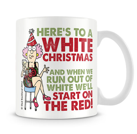 Aunty Acid White Christmas Mug