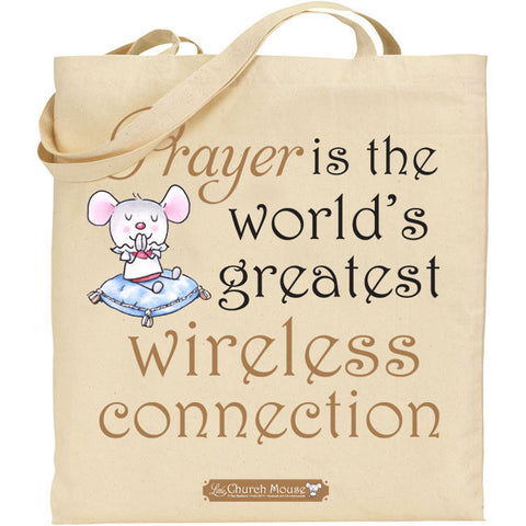 Little Church Mouse Prayer Tote Bag