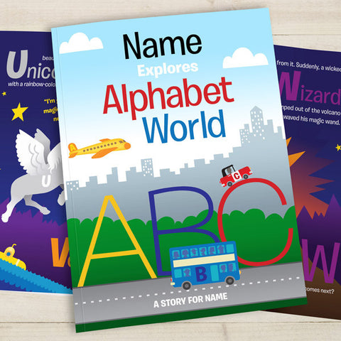 Your Child in Alphabet World Personalised Book