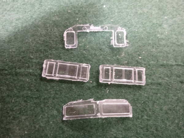 SD70 ACU CAB GLASS, fits CP & NS cabs,  Pacific Northwest Resins, HO Scale