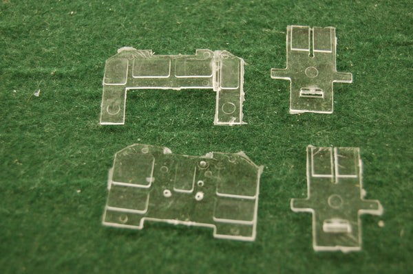 HO Scale SW 7 Cab Glass set, made by Pacific Northwest Resins shells