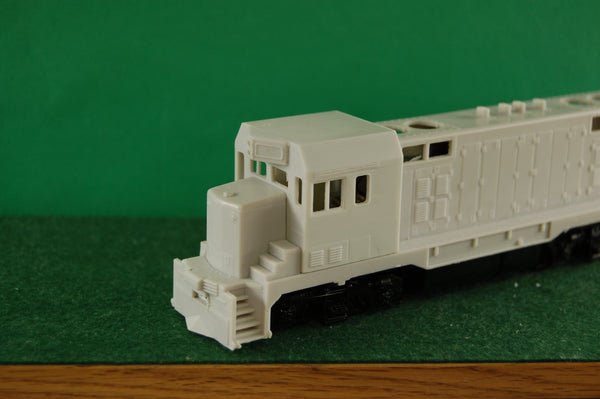 HO Scale, CF7 Engine shell Kit with new 3 window Cab by Pacific Northwest Resin