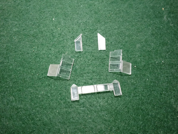 HO Scale IC SD 20 & SD28 Cab Glass set, fits Pacific Northwest Resins shells