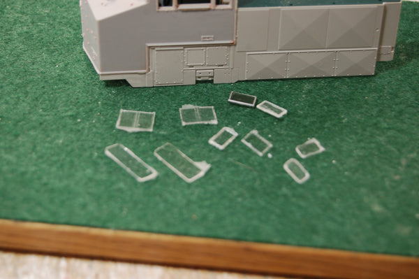 AC4400 CWM CAB GLASS, Fits CP or CSX version Engine shell & Cab   Pacific Northwest Resins, HO Scale