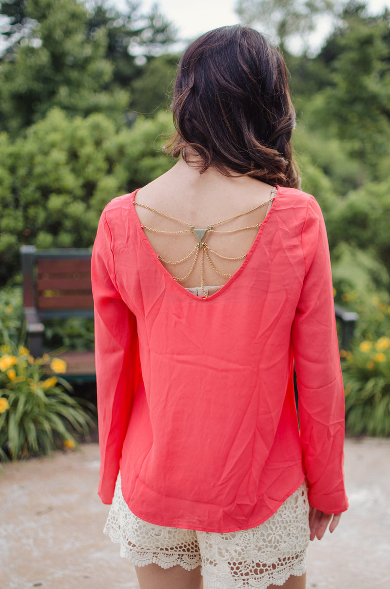 Back to Me Top- Coral