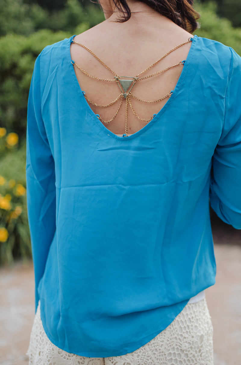 Back to Me Top - Turquoise