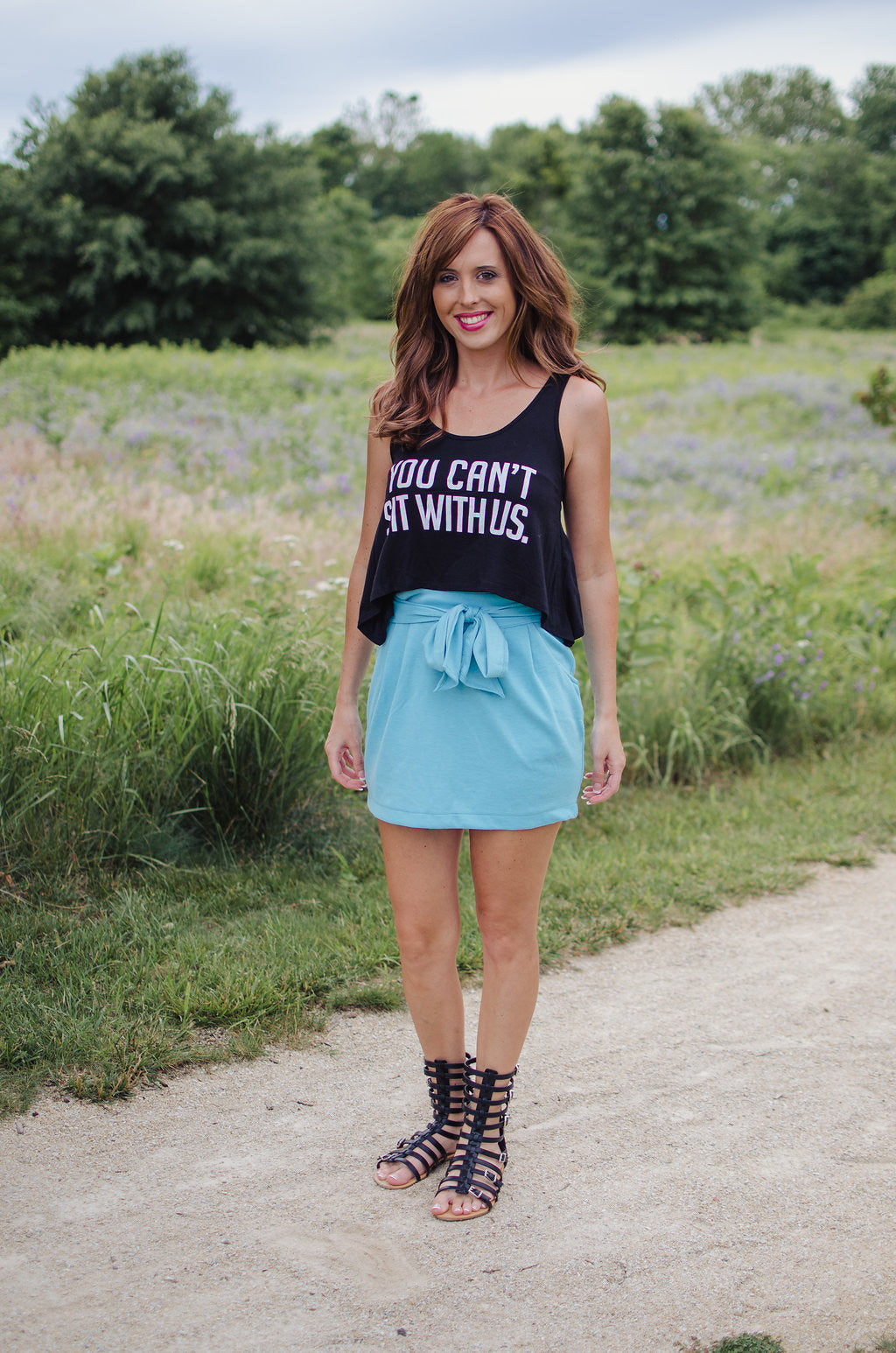 Remember Me Skirt- Baby Blue