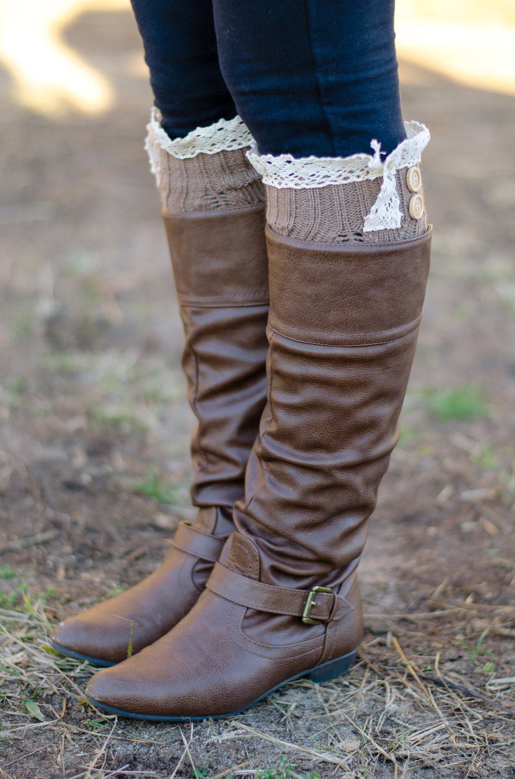Cute and Cozy Leg Warmers - Olive