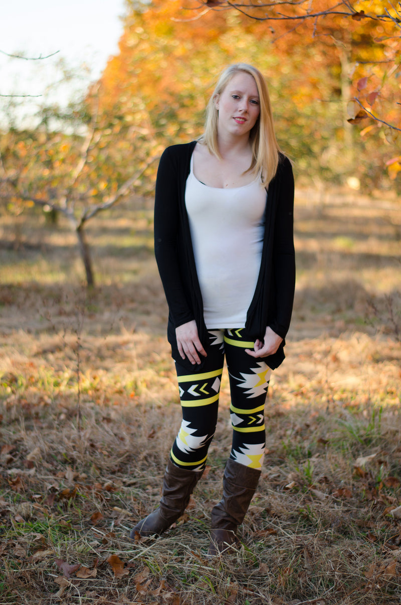 It's Electric Leggings- Yellow