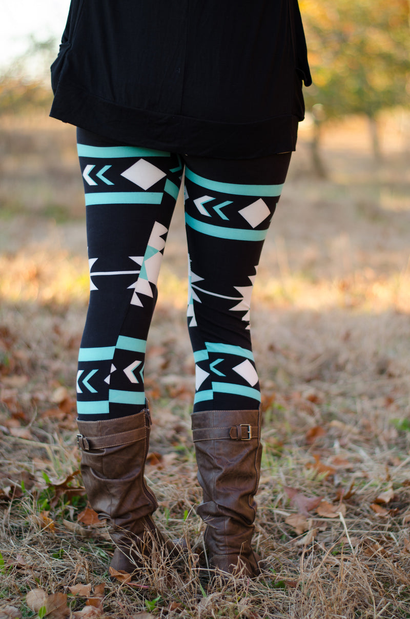 It's Electric Leggings- Teal