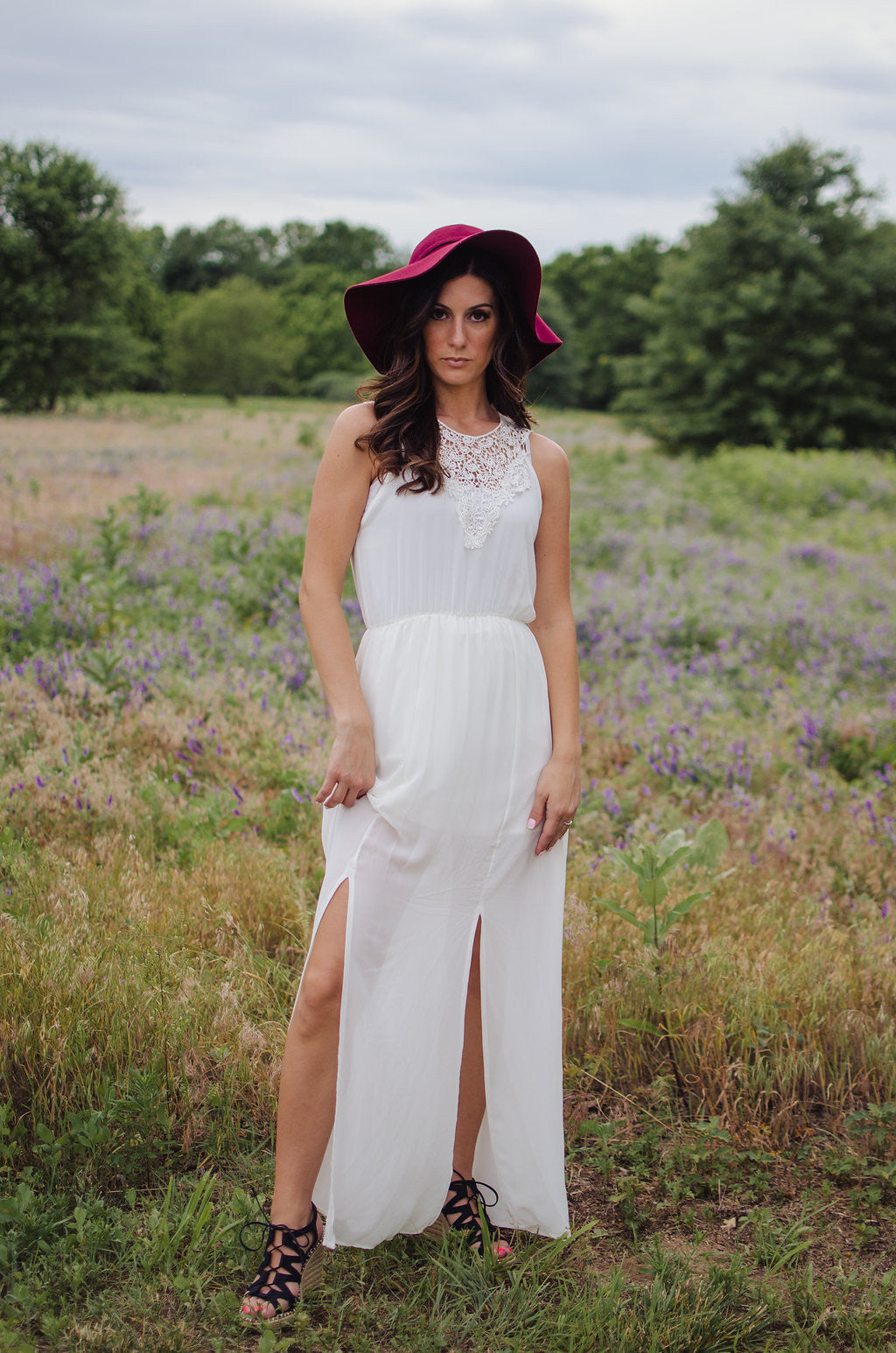 Walking On The Clouds Maxi Dress