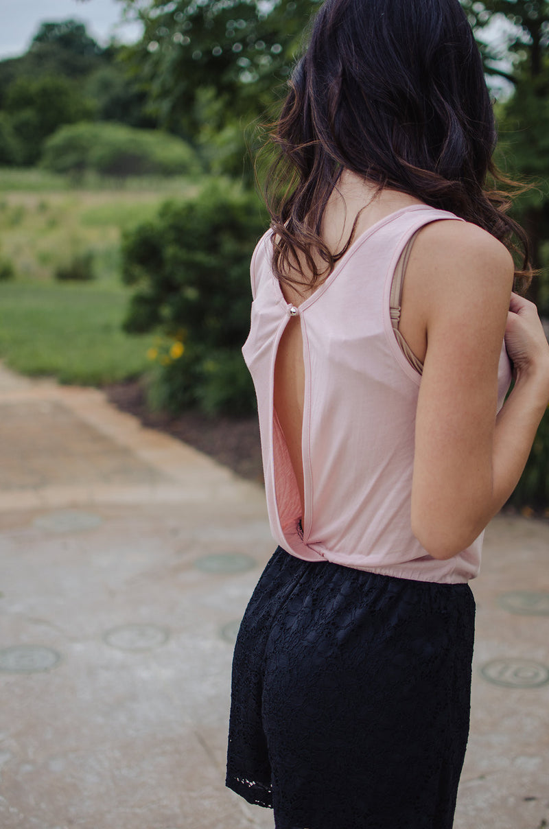 One More Time Romper - Dusty Rose/Pink