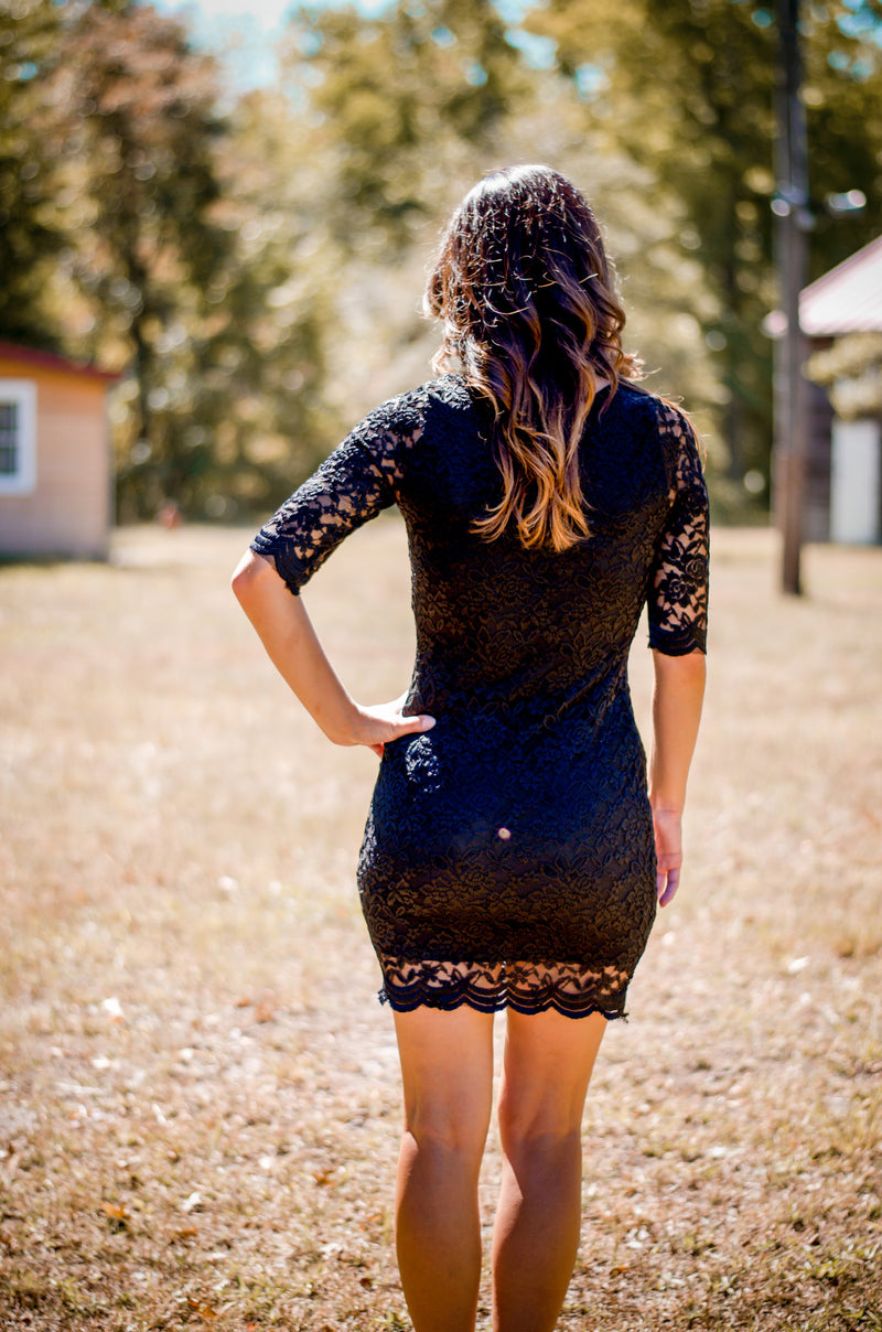 Late in Lace Dress
