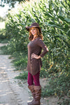 Girl Next Door Top- Brown