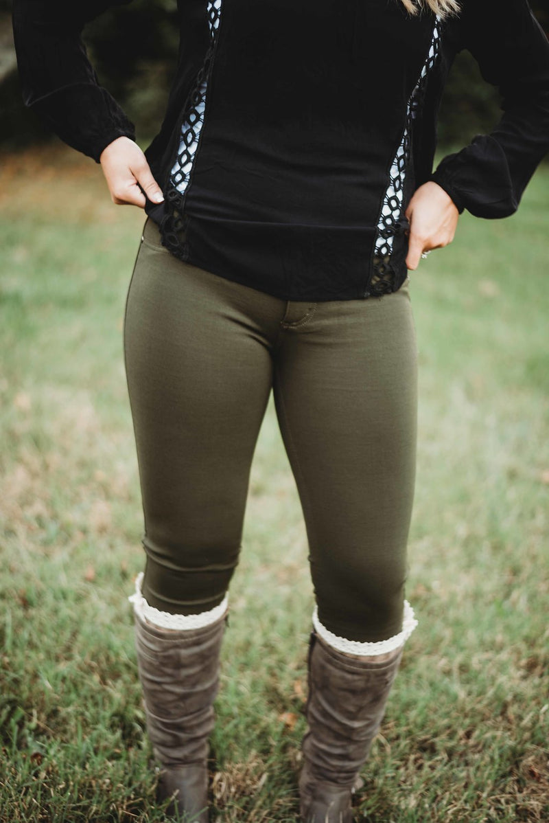 Make it Dirty Olive Jeggings