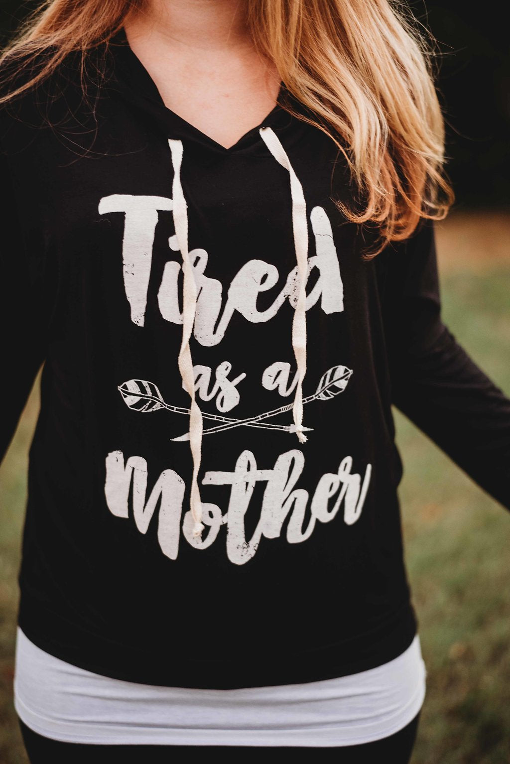 Tired as a Mother String Hoodie
