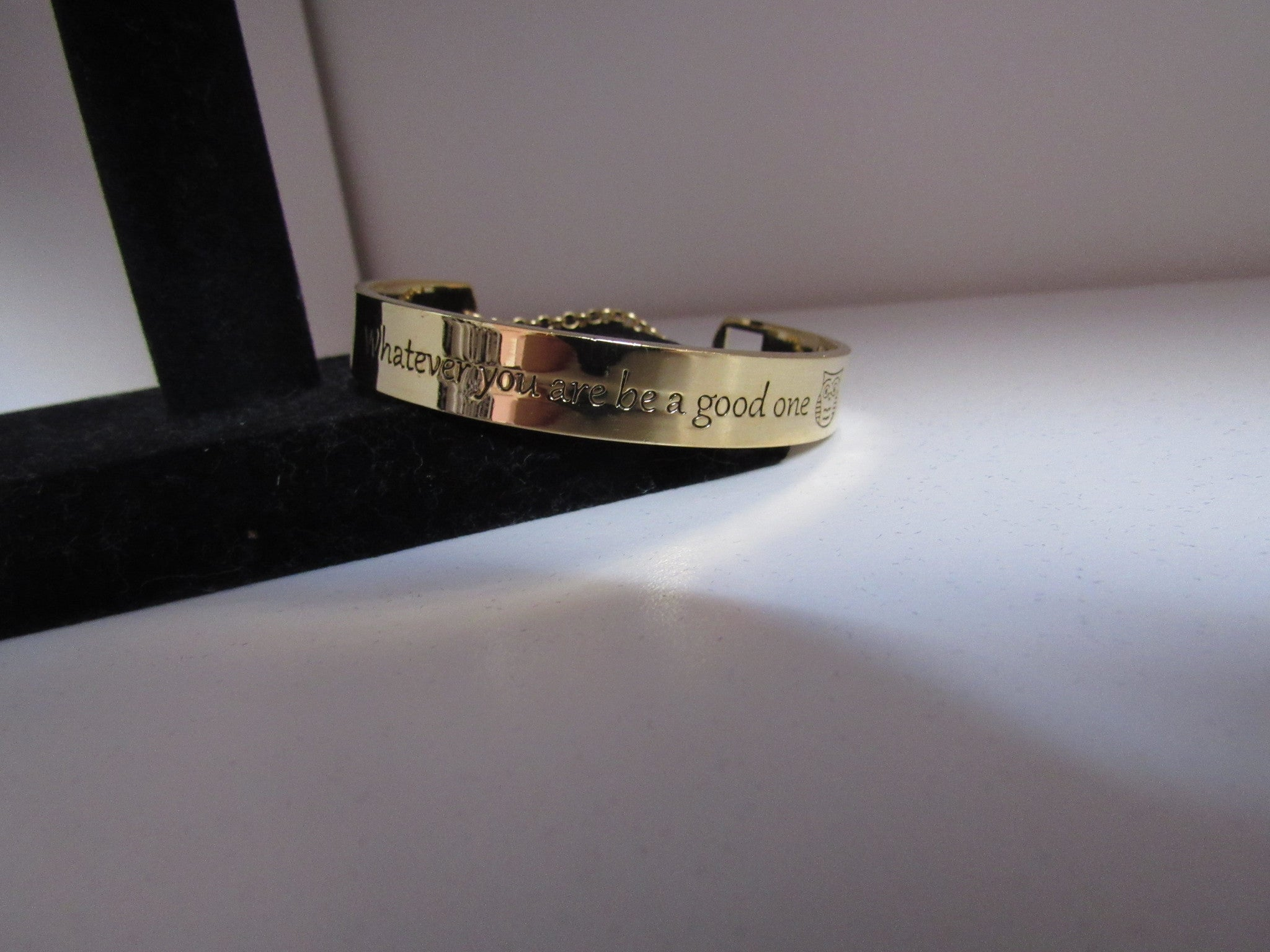 Whatever You Are Be A Good One Bracelet- Gold