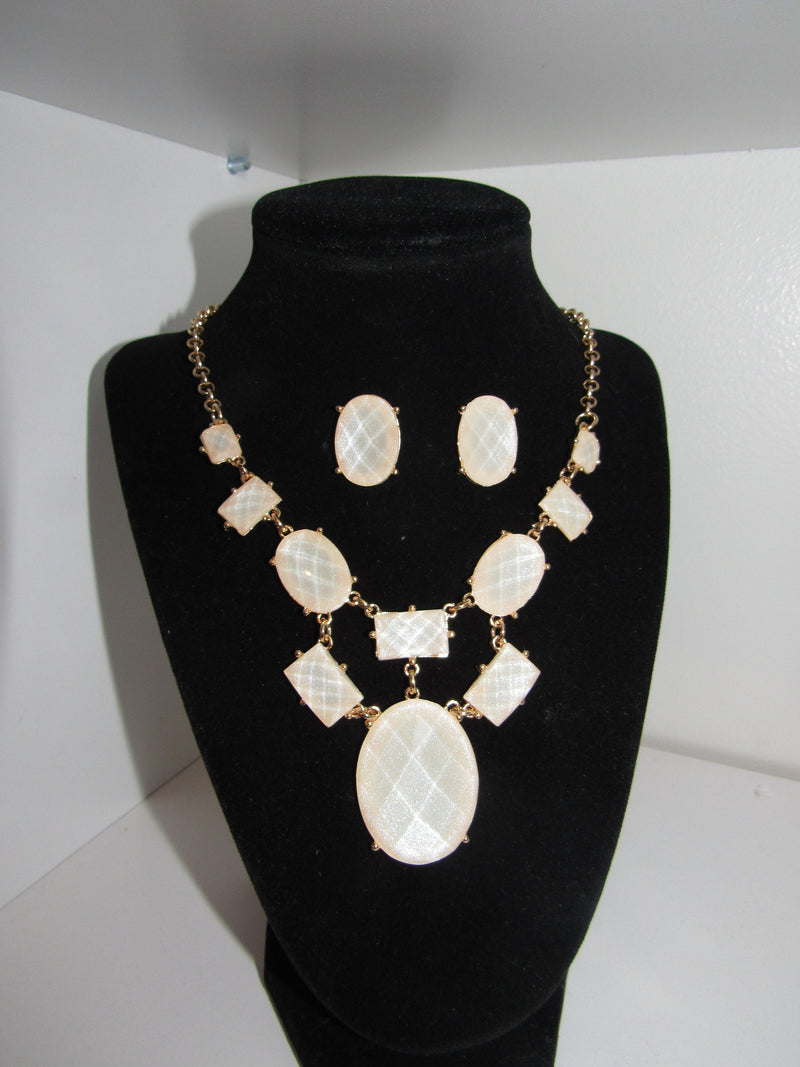 I'd Like To Know Statement Necklace/ Earring Set