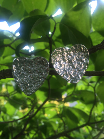 My Indented Heart Earrings