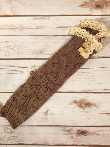 Cute and Cozy Leg Warmers- Brown
